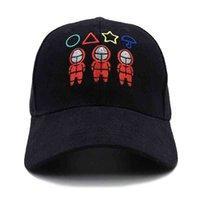 للجنسين التطريز الحبار لعبة الكرة القبعات الكرتون الأحمر مربع دائرة مثلث رياضية ملثين مطرزة snapbacks الرياضة الرياضية قبعات البيسبول الشمس قناع G016BHG
