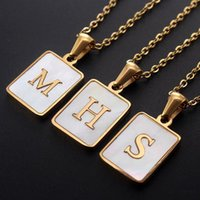 Chains Name Initial Necklaces For Women Men Gold Letter Card Pendant Cuban Curb Chain Necklace Jewelry Drop
