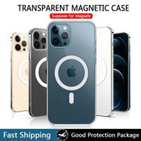 Hartkristallfälle Magsafe Cover für iPhone 13 12 11 Pro Max Mini Magnetic Shell Funda Case