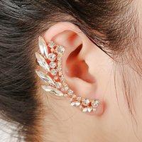 Moda Nova Chegada Folha Clipe Brincos Bohemia Filial Cristal Orelha Earring Brincos Mulheres Popular Ears Festa Jóias 2E001