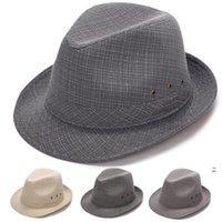 واقية من الشمس القبعات لينة بخيل بريم فيدورا بنما قبعة للجنسين الصيف السفر الشاطئ الظل الشمس قبعات الأزياء الصلبة قبعة owc7535