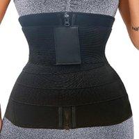 Women's Shapers 2 In 1 Sauna Sweat Neoprene Waist Trainer Tummy Wrap Shapewear Women Faja Weight Loss Belly Belt Resistance Bands