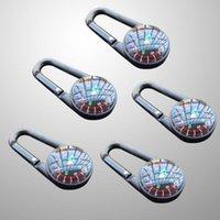 Açık Gadgets 5 adet Mini Pusula Kamp Yürüyüş Seyahat Carabiner Çocuk Küçük Hediye ABS Anahtarlık Şişe