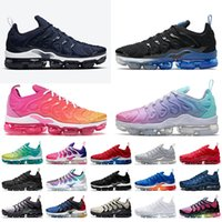 Nike Air Vapormax Plus Off White Big Taille 13 Tn Plus Basker Mens Running Chaussures de course Black Royal Midnight Blue Summer Sunset Sneakers Womens Nik