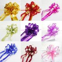 2021 Hochzeitsdekoration Blumen Layout Bowknot Schöne festliche Wagengriff Rückspiegel Faule Handgezeichnete Blume Owd6251