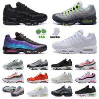 Nike Air Max Airmax 95 95s OG Correndo Tênis Homens Mulheres Grande Tamanho Us 12 Triple Preto Branco O que o Neon World Yin Yang Laser Fuchsia Sports Sneakers Trainers EUR 36-46