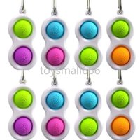 Push Bubble Keychain Finger Toy Sensory Sensory Fidget Semplice portachiavi 2 Palle Borsa Pendenti Stress Sollier Anti Ansia
