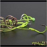 Caja de ganchos de color Iseni establece explosión fluorescente cuatro tackle en una pesca N6Z0 BGIW3 FCUPX