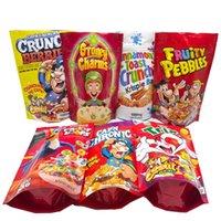 Borse da imballaggio EDIbles Snack Snack 1000mg Trix Fruttato Pebbles Froot Loops Borsa Mylar Oldo Proof Plastic Stand Up Sacchetto con cerniera in magazzino
