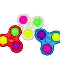 3 furos Fidget Bolha Spinner Spinner Brinquedos Sensory Chaveiro Squeeze Bolhas dedo Keychain Finger FingerTip Crianças Adult Stress Relief Balls G33i2oy