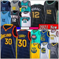 Nueva Ja 12 Morant Jerseys de baloncesto Stephen 30 Curry Mens James 33 Wiseman Draymond 23 Green Youth Kids Klay 11 Thompson