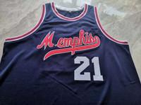 Seltene Basketball-Jersey Männer Jugend Frauen Vintage Larry Finch Dunkelblaue gelbe Größe S-5XL Benutzerdefinierte Name oder Nummer