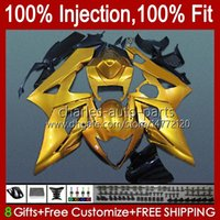 Kit + Cowl för Suzuki GSXR 1000 GSX-R1000 GSXR1000 2005 2006 Kropp 11HC.86 GSXR-1000 05 06 K5 Kroppsarbete GSX R1000 05 06 Glänsande gyllene Fairings