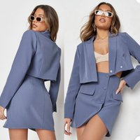 Summer Sexy Dress Suits Women Short Slim Fit Blazer Suit Ladies Prom Party Wedding Wear(Jacket+Skirt)