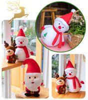 Cartoon Santa Claus Schneemann Ornamente Elch Puppe Plüschtier Feiertag Dolls Weihnachtsgeschenke Kinder Spielzeug