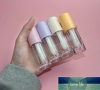 Packing Bottles 6ml Colored Lip Gloss Plastic Container  Big Brush Tube PETG Material Corrosion Resistance
