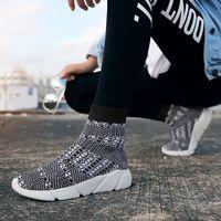 2021 Usine direct Hommes Chaussures Femmes Spring Tendance Chaussette coréenne Sneakers Bleu Noir Respirant Couple Sports et loisirs 35-45 Sept