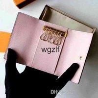 الجملة محفظة لأعلى جودة متعدد الألوان جلدية قصيرة محفظة سيدة ستة حامل النساء الرجال الكلاسيكية سستة مفتاح الجيب