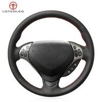تغطي عجلة القيادة LQTENLO أسود جلد طبيعي غلاف سيارة مخيط يدوي ل TL TYPE-S 2007 2008 (3-تكلم)