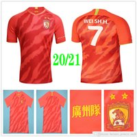 2020 2021 Guangzhou Evergrande Futbol Formaları Paulinho A.Talisca Zheng Zh. Goullart Alan Elkeson Özel 20 21 Ev Kırmızı Hengda Futbol Gömlek