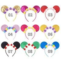 Halloween Christmas Kids Flower Hair Sticks baby Mouse Ear headbands Party girls designer head band accessories