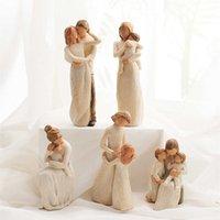 Decorazione della casa Figurine Figurine Love Famiglia Felice Tempo felice Statuette Statuette Decor Style Scandinavian Style Decorative Ornamenti moderni 210607