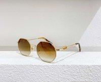 2040 Altın / Kahverengi Gölgeli Kadın Güneş Gözlüğü Wth Kolye Zincir Moda Güneş Gözlükleri Plaj Açık Gözlük UV400 Koruma Kutusu ile