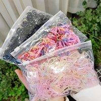 1500 pz / pack Girls colorato piccolo gomma gemella monouso gum per supporto coda di cavallo accessori per capelli elastici