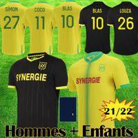 22 22 Mailots Nantes FC Soccer Tehersys Maillot de oep Kits 2021 2022 Джерси Симон Луза Туре BLAS COCO COULIBALY Футбол-футбол оборудование