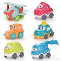 6 pcs carros de atrito dos desenhos animados carros bebê brinquedos fofo táxi tractor Bebe para crianças meninos educativos presente ao longo de 1 ano velho