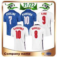 2021 Kane Foden Europa Soccer Jerseys 20/21 Home Sterling Saka Rashford Camicia Away Barkley Sancho Mount Grealish Football Uomo + Kid Kit Set Calzini