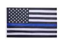 90x150 cm niebieski linia usa flagi policyjne 3x5 stóp cienka niebieska linia usa flaga czarna biała blue amerykańska flaga z mosiężnymi przelotkami