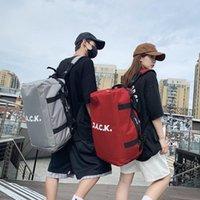 Backpack Multifunction Man Women Boys Girls Nylon Gym Sport Bags Balck White Simple Shouder Bag KpopTravel Storage Mochila