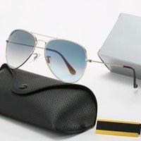 Klassische Luxusdesigner Männer Frauen Sonnenbrille Marke Vintage Pilot Sonnenbrille Polarisierte UV400 58mm Glaslinsen