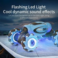 D876 4WD RC Car Radio Gesture Induction Music Light Twist High Speed Stunt Remote Control off Road Drift Vehicle Car Model