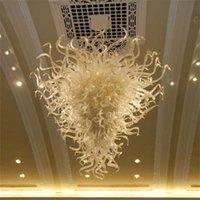 Lâmpadas modernas da sala de estar lâmpadas de vidro lustre de vidro lustre de iluminação de energia lustres de economia de energia W80XH120cm Lâmpada de pingente de arte