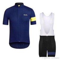 Rapha 사이클링 저지 세트 자전거 사이클링 짧은 소매 셔츠 턱받이 / 반바지 정장 여름 남성의 사이클링 의류 Ropa Ciclismo Hombre