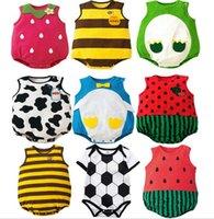 Baby Junge Mädchen Strampler Sommer Cartoon Bedruckt Säuglingskleidung Runder Kragen Ärmellose Baumwolle Kinder Kinder Kleinkind Boutique Kleidung