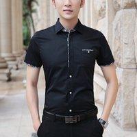 Browon 2020 летняя мужская мужская рубашка с коротким рукавом сплошной цвет.
