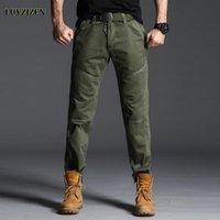 Original luyzjzen plus size homens calças casuais corredores calças pretas ginásio ginásio vestuário bolsos de lazer algodão calça 52 homens