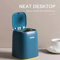 Cestas colgantes Basura de escritorio Tipo de Prensa Tipo de Playa Lid Bucket Mini Dresser Storage Office Basket