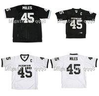 Qualité supérieure ! # 45 Boobie Miles Permian Panther Jersey Tous cousus Friday Night Lights Jerseys Black White Football Jerseys