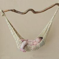 Solid Color Born Bound Baby Custhet Knit Hammock Висит коконы кровать PO реквизиты младенцев аксессуары