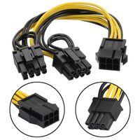 PCI-E 6-контактный 6PIN к двойным 6 + 2 8 PIN-код питания кабеля PCIE PCI Express
