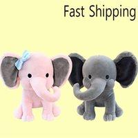 아기 코끼리 소프트 베개 박제 동물 봉제 장난감 아이 플러시 인형 어린이 자고 쿠션 사랑스러운 만화 코끼리 장난감 신생아 선물