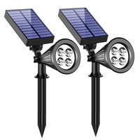 Solar Lamps Lawn Light 4Led White Outdoor Waterproof Landscape Plug Control Garden Lighting Wall Lamp