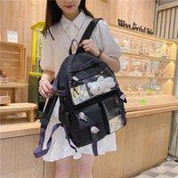 Backpack EnoPella Fashion Women Cute Cow Nylon Travel Bookbag Female For College Girl Black Mochila Rucksack School Bag