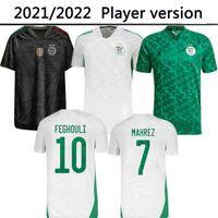 Algerie Player Версия 2021 Главная Белый Черный Третий Прочь Зеленый Футбол Третий Махрез Феггули Bennacer Atal 20 21 Алжир Футбольная Рубашка Мужчины Maillot de Foot