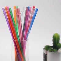 البلاستيك شرب القش لعصير طويل الصعب القش الغذاء الصف المواد الآمن صحية دائم المنزل حزب حديقة استخدام OOB6190