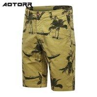 Pantaloncini da uomo moda retrò stampato cargo classico uniforme militare in cotone casual pantaloni da spiaggia casual estate